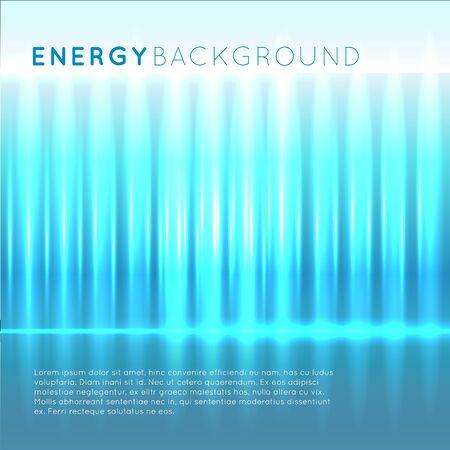 Blue energy abstract background with ripple light effect Illusztráció