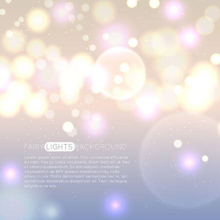 Glowing lights, bokeh particles abstract background Illusztráció