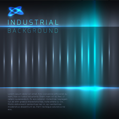 Industrial or technology abstract background with light effects