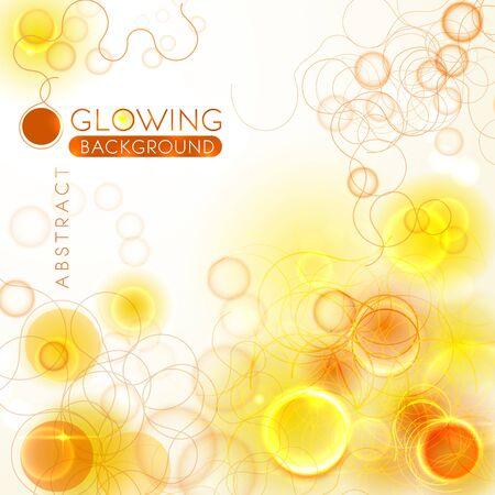 Glowing orange abstract background with thread structures Illusztráció