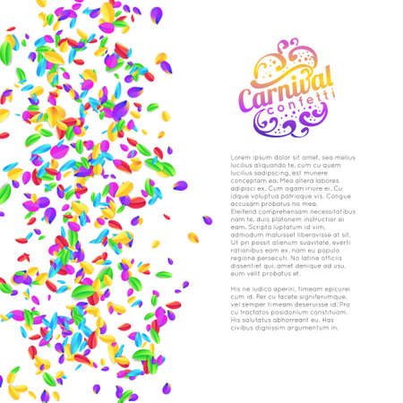 Colorful carnival confetti  isolated on white background