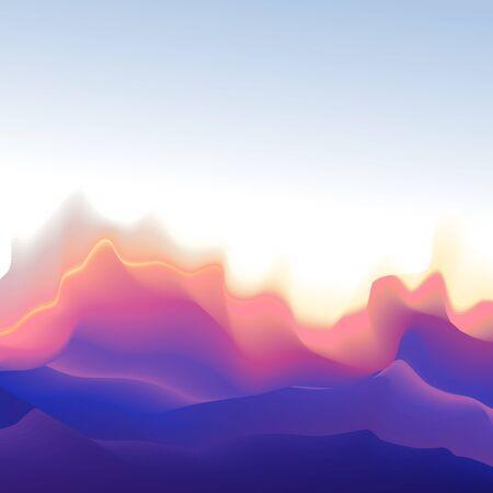 Mountain shape background, colorful mountain landscape impression or sound waves equalizer visualisation