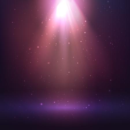 Shining light effect, cosmic background Illusztráció