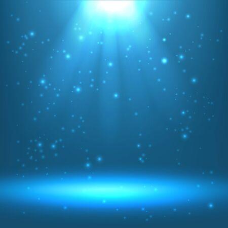 shining light effect background, ice blue color Illusztráció