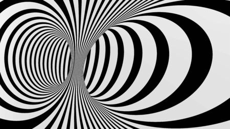 Black and white abstract vector stripes tunnel, optical illusion Stock Vector - 87752269