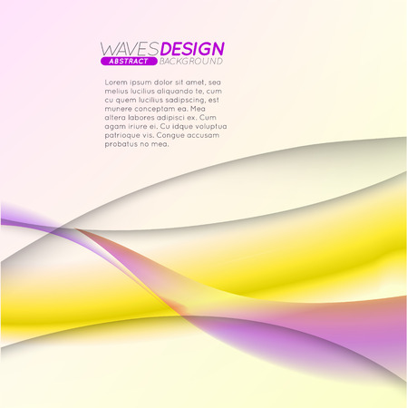 Abstract background with colorful waves. Dynamic Effect. Vector Illustration. Design Template. Illusztráció