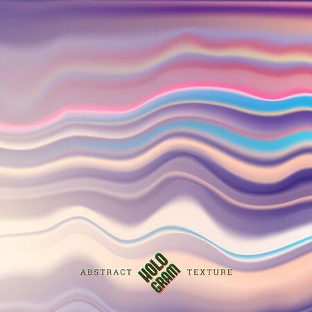 Hologram wavy liqud effect texture. Illusztráció