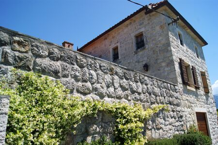 lithic: Old house in Perast Stock Photo