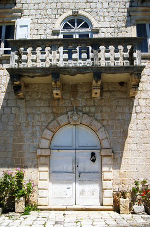 lithic: Fragment of the palace in Perast
