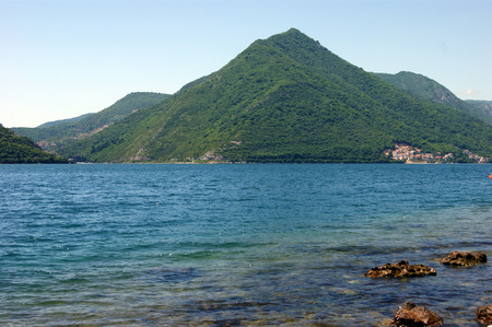 estival: View from Perast Stock Photo
