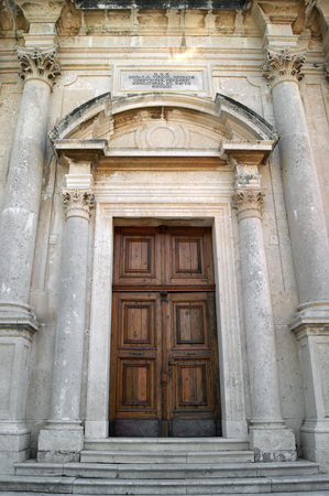 eldest: Entrance to the Church of the Nativity of the Virgin Prcanj