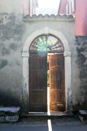 ajar: open door Stock Photo