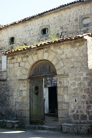 lithic: Entrance to the old house Prcanj