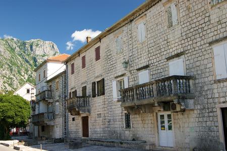 front elevation: Street in Prcanj, Montenegro