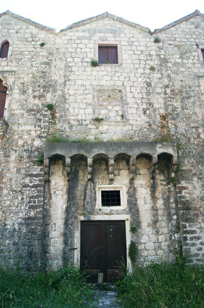 lithic: House Three Sisters in Prcanj Stock Photo