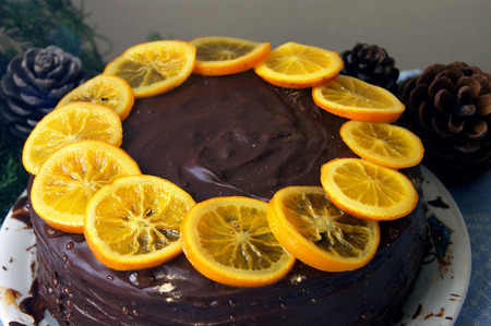 dulcet: Cake with oranges