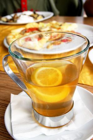voile: tea with lemon Stock Photo