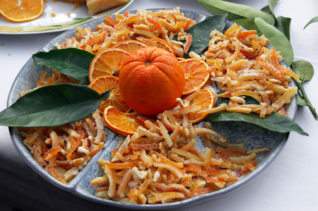 candied: candied orange