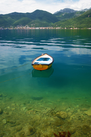 The boat in the waters of the Adriatic Stock Photo