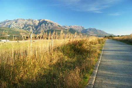 montenegro: The road, Montenegro Stock Photo