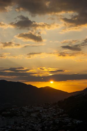 extramural: Cloudy sky at sunset