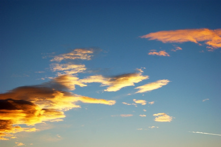 extramural: Clouds on the sunset sky