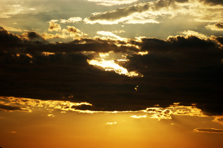 extramural: Cloud, illuminated by the setting sun