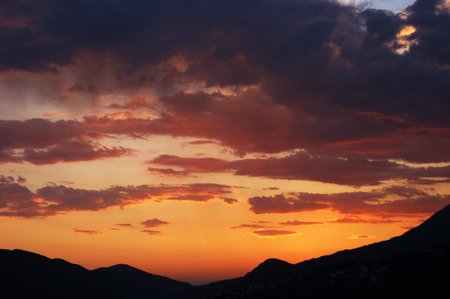 extramural: Colorful sky at sunset Stock Photo