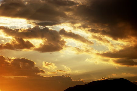 extramural: Golden clouds on the sunset
