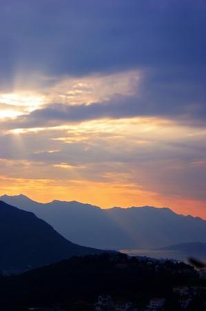 palate: beautiful sunrise Stock Photo