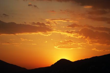 colores calidos: Los colores cálidos de la puesta del sol