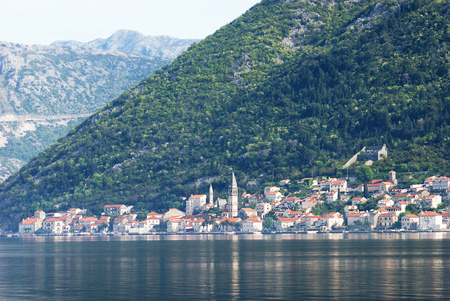morn: View of Perast, Montenegro