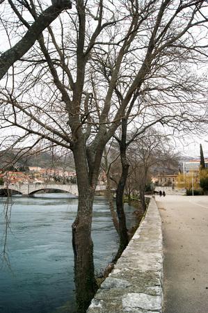 effluent: Winter quay in Trebinje