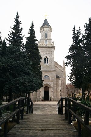 pious: View of the Orthodox Cathedral in Trebinje Stock Photo