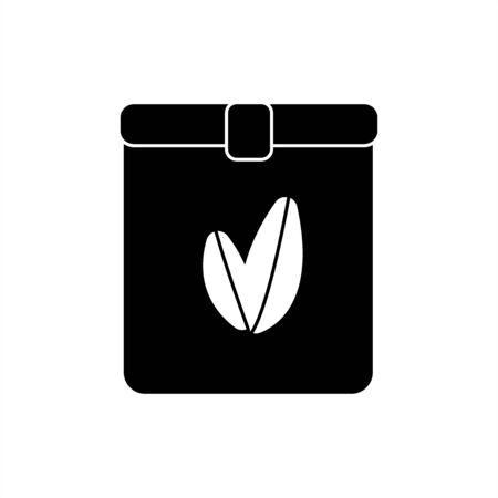Fertilizer icon  for crops color flat icons for web and mobile design. Black silhouette of a can or bag. On the isolated white background. Vector and stock illustration.