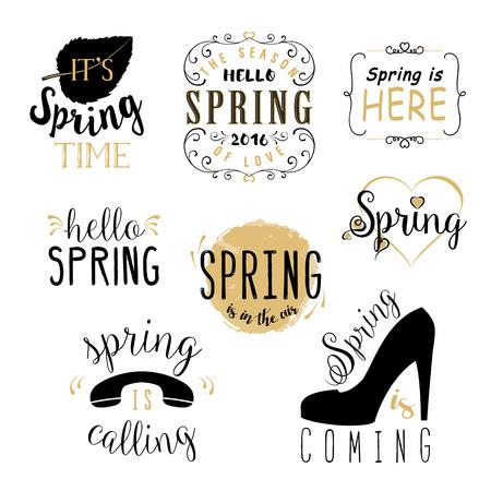 springtime: Spring Vector Typographic Poster or Greeting Card Design. Spring Label, springtime, spring wallpaper, spring is calling, spring design, spring vector, hello spring, spring text, lettering, spring art
