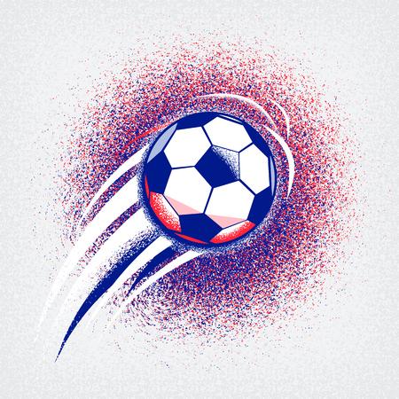 Euro 2016 Frankreich Fußball-Meisterschaft mit Ball, Schild und Frankreich Flagge Farben. Grobkörnigkeit Textur Standard-Bild - 57155713