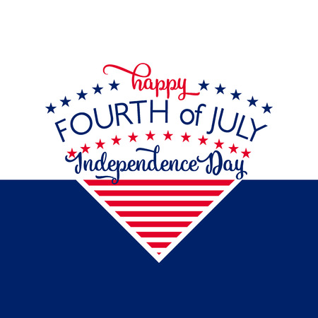 hooray: Happy Independence Day - July 4th - Fourth of July - Memorial Day - Flag Day - Patriotic