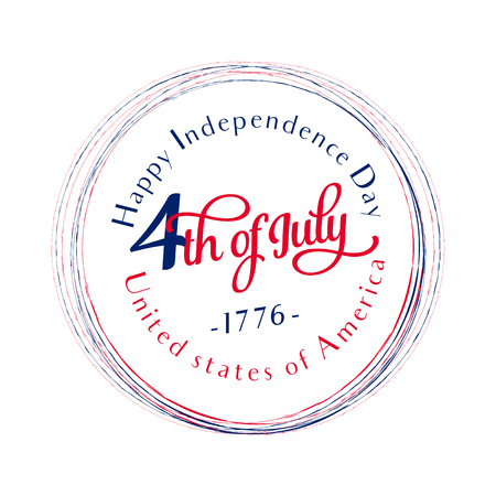 Happy Independence Day - July 4th - Fourth of July - Memorial Day - Flag Day - Patriotic