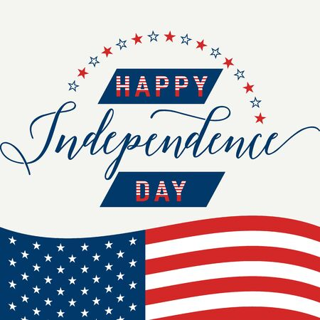 hallmark: Happy Independence Day. July 4th. Fourth July. Vector background. American Flag. Patriotic celebrate