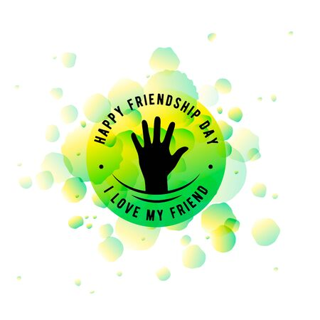brotherhood: Vector illustration of Happy Friendship day typography design isolated on white background with rough color dots. Inspirational quote about friend. Used as greeting cards, felicitation posters, congratulation print, t-shirt for your friends. Illustration