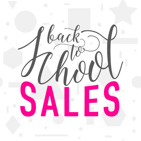 Vector illustration of back to school sale greeting card with vector vector illustration of back to school sale greeting card with lettering element on seamless geometric background with circle line triangle m4hsunfo