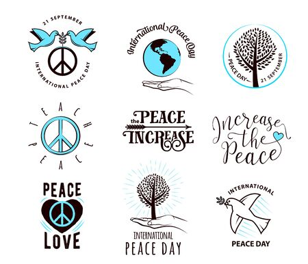 21: illustration of international peace day september 21.