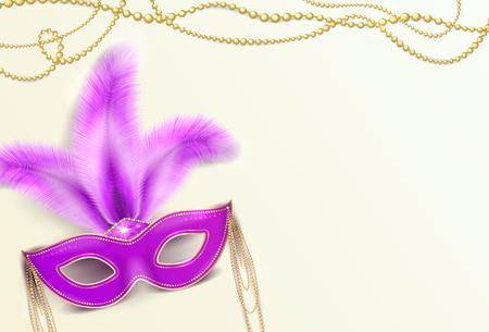 tacky: Vector illustration of Mardi Gras holiday background