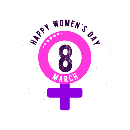 Vector illustration of stylish 8 march womens day background