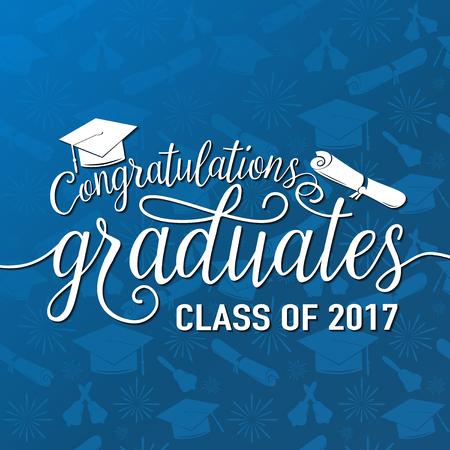 etiquetas de ropa: Vector en graduaciones sin fisuras fondo felicitaciones graduados 2017 clase Vectores