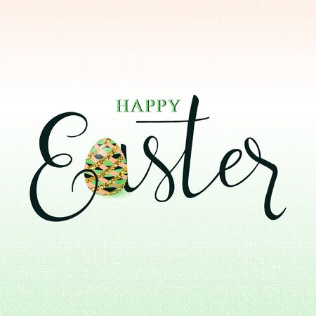 Vector illustration of luxury happy easter greeting card
