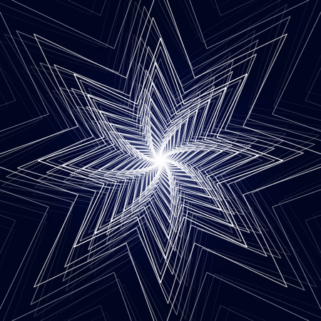 sun: Vector illustration of abstract triangle star background