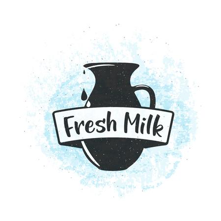 fresh idea: Vector illustration of fresh dairy milk background