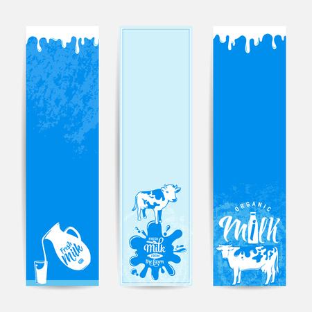 Vector illustration of fresh milky banner design template Stock Photo